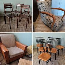 chaises, fauteuils, tabourets...