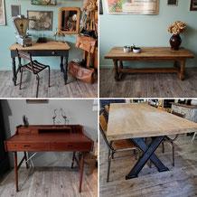tables, bureaux, établis...