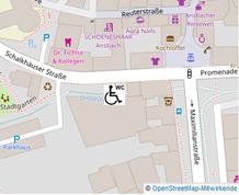 Lageplan Behinderten-WC Schalkhäuser Straße