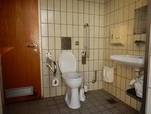 Foto zeigt Behinderten-WC Schalkhäuser Straße von Innen
