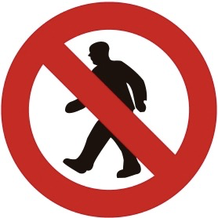 Verkeersbord - verboden toegang - het paranormale