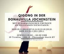 Qigong in der Donauvilla, Qigong in Niederbayern, Qigong an der Donau, Qigong, Niederbayern, Zuzana Sebkova-Thaller, Entspannen, Regenerieren, Jochenstein, Untergriesbach, Passau, Hauzenberg, Obernzell