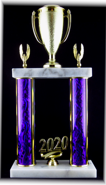 "Double Post Trophy, 7.5"" Base"