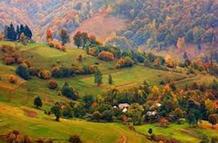 пейзаж, село в горах