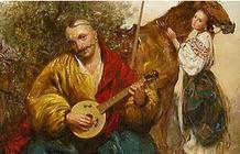Розповідь про автора народної пісні - Їхав козак за Дунай