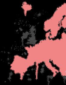 European grafitti map in ZakWashington pink and black colours
