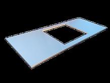 Encimera de acero inoxidable con encastre de placa vitrocerámica o gas