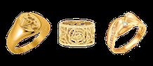 bague or, alliance, chevalière