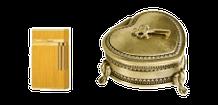 Briquet or, boîte à bijoux...