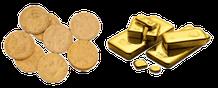 Monnaie d'or, lingots...