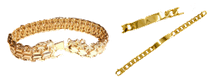 bracelet or, gourmette or