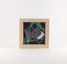 Cadre origami Poisson - Format 11x11cm - 20€