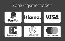 Einfaches Bezahlen Visa Mastercard Paypal EC Lastschrift Stripe Vorkasse