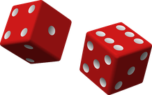 Zwei rote Würfel