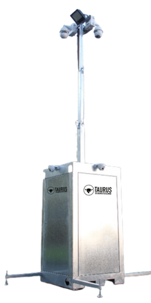 TAURUS Videoturm, Video Turm, Videotower, Bauwatch, Mobile Cam, Mobile C@m, Telescopicmast, Kameramast, Baustellenüberwachung, Baustellensicherung, Videoüberwachung, Mobile Videoüberwachung, Autarke Videoüberwachung,