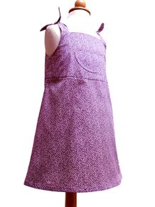 pastell gemustertes Kleid für Mädchen, Herzkind, Berlin, faire Mode
