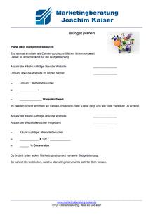 Online Marketing DVD Kurs Budget