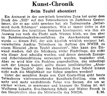 Kunst-Chronik (Tagespiegel 30.10.1952)