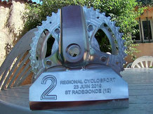 Un trophée usiné dans un bloc d'alu... Super !