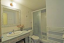 Salle d'eau avec douche 120 X 70 mitigeur thermostatique radiateur sèche serviettes, WC.