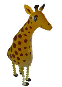 schwebender Folienballon - lustige Giraffe