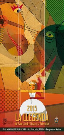 La llegenda de Sant Jordi en Banyeres de Mariola 2015