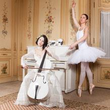 Ravienne Art Model - Foto, Cello, Geige, Klavier, Balletttänzerin, Musik auf Reisen