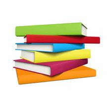 bunter Bücherstapel