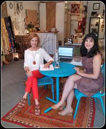 Melanie & Natalie recording live at JuJu Vintage Clothing Store.