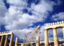 Akropolis mit Kran