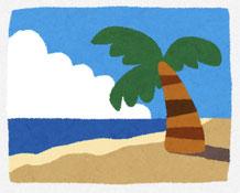 砂浜と海 イラスト