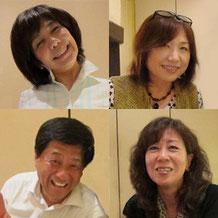 25期生会デビューの菅さん(左上)日野さん(右上)谷くん(左下)山本さん(右下)