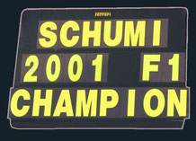 Michael Schumacher 2001 F1 CHAMPION