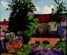 Henri Delavallée, Paysage à Marlotte, huile sur toile, collection musée des beaux-arts de Brest métropole.