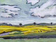 Strand bei Falshöft, Acrylfarbe auf Leinwand, 50 x 70 cm, Thomas Anton Stribick
