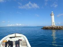 石垣島でのんびりダイビング石垣港を出港