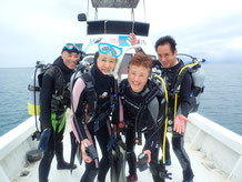 石垣島でのんびりダイビングでエントリー前