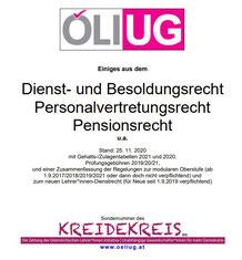 Das Dienstrechtsskriptum wird regelmäßig von unseren rechtsversierten Expert*innen unter Federführung von Gary Fuchsbauer und Hannes Grünbichler aktualisiert