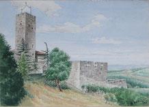 Berto Renzetti acquerello Assisi