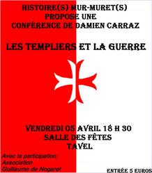 Affiche conférence Les Templiers et la guerre