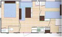 plan mobile home LAMPARO 23m2