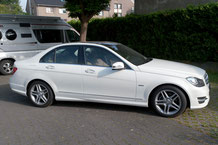 Mercedes C-Klasse W204 mit Rear Seat Entertainment aussenansicht