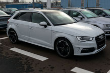 Audi A3 Sportsback 8P mit Rear-Seat-Entertainment