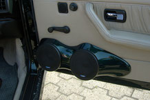 Doorboards für 2 13cm Rodek tieftöner lackiert in Wagenfarbe