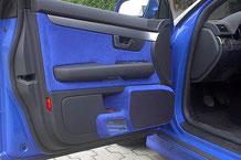 Audi mit Alcantarra Doorboards für 2x 16 cm lautsprecher