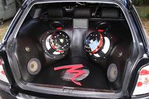 GFK-Showausbau im Audi Avant mit Focal utopia Subwoofer