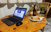 Mein afterwork oder afterday Arbeitsplatz in der Pension Steiner