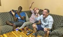 Grosser Jubel über den Sieg von Namibia