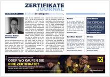 ZertifikateJournal Titelseite