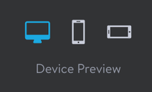 Preview your website on different devices